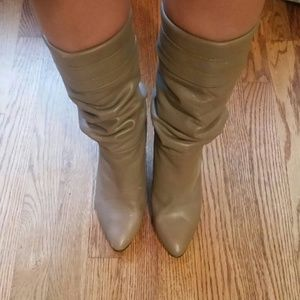 Shoes - Nude Slouchy Tall Boots 8.5